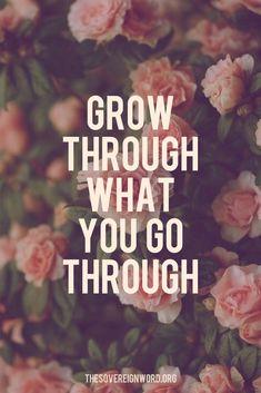 Grow through what you go through. #christian #faith #growth #truth #hope #quotes