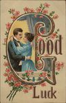 Good Luck - Couple and Flowers - Letter G