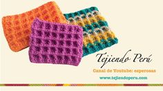 Marixa González shared a video Knitting Stiches, Crochet Stitches Patterns, Stitch Patterns, Crochet Waffle Stitch, Knit Crochet, Things To Make With Yarn, Tatting, Crochet Videos, Crochet Scarves