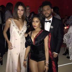 Selena Gomez, Nicki Minaj and The Weeknd at Met Gala