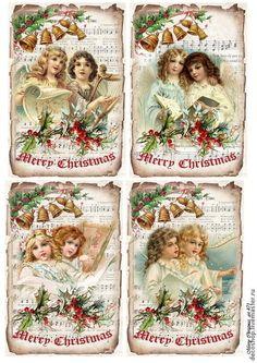 """№ 471 """"рождественские ангелы"""", рисовая бумага для декупажа - рисовая бумага"""