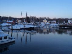 Camden Harbor, pretty in Winter, too.  Feb 2014