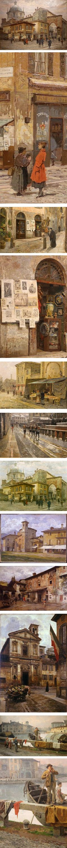 Arturo Ferrari, italian painter cityscapes