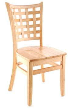 Premium Lattice Back Wood Chair - Made in the USA