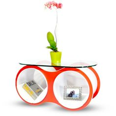 Find it at the Foundary - Bolla 2 Coffee Table Oval Glass - Red
