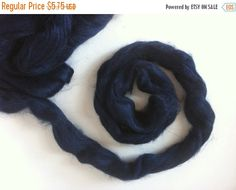 SALE 1 oz Tussah silk Top , Tuarag( dark royal blue)