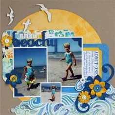 Just Beachy - Club CK - The Online Community and Scrapbook Club from Creating Keepsakes