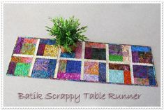 Batik Scrappy Table ... by Connie Campbell | Quilting Pattern - Looking for your next project? You're going to love Batik Scrappy Table Runner by designer Connie Campbell. - via @Craftsy
