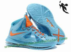 Authentic Blue Orange Style Nike Lebron X 10 541100 400 For Wholesale Shoes  store sell the cheap Nike Lebron online, it is high quality Nike Lebron  sneakers ...