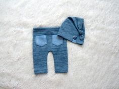 NEW-Newborn Photography Props-Newborn Blue Pants With by zoik