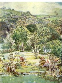The Garden from the Terrace (Ashcombe) by Cecil Beaton