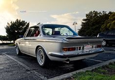 BMW E9 3.5 CSI grey red black interior custom silver