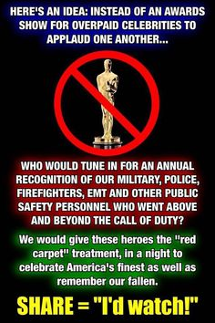 I would watch this award show, how about you? Educate Yourself And Do Your Own Research!