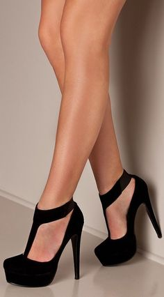 Adorable high heel t-strap pump fashion