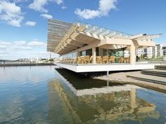 Piano Pavillion in Lahti, Finland Timber Architecture, Timber Buildings, Beautiful Architecture, Beautiful Buildings, Architecture Details, Renzo Piano, Interesting Buildings, Nordic Design, Helsinki
