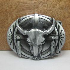 Stylish Ox Head Shape Embellished Gun Metal Belt Buckle For Men #jewelry, #women, #men, #hats, #watches, #belts, #fashion