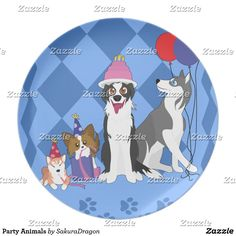 Party Animals Melamine Plate