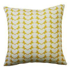 Dancing Horses Cushion - Yellow 45cm x 45cm