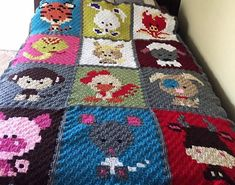 Kids love to have the items in their room which are cartoon themed, so it is a great idea to keep them happy by crocheting a blanket with the cartoons on it which is not a difficult task for those who know the technique of crocheting.