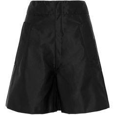 Miu Miu Taffeta shorts (41.295 RUB) ❤ liked on Polyvore featuring shorts, black, highwaist shorts, a-line shorts, high-rise shorts, miu miu and high waisted shorts