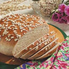 """Maple Oat Bread Recipe -""""The first time I made this old-fashioned oat bread, my husband, two daughters and I ate the entire loaf! It's the best bread we've ever tasted,"""" writes Michele Odstrcilek of Lemont, Illinois. Sweetened with a hint of maple syrup, the golden brown yeast bread will rise to any mealtime occasion."""