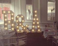 Your name in lights... we hired these giant 5ft LED letters B &:A for a fantastic couple getting hitched in the legendary Cong Co. Mayo recently
