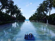 Right behind the Check In pavilion at Four Seasons The Nam Hai is this gorgeous view. Four Seasons, Pavilion, Vietnam, Luxury, Check, Outdoor Decor, Travel, Viajes