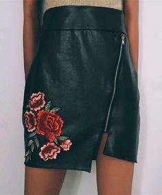 casual black pencil skirts, fashion embroidered skirts for women, formal asymetrical skirts for work