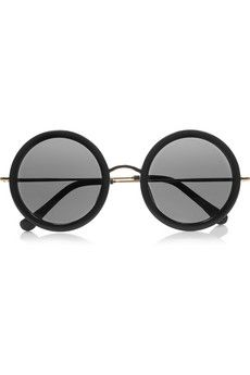 acetate and metal round john lennon style sunglasses by Mary-Kate and Ashley Olsen's  womenswear brand, The Row.