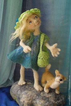 """Коллекционные куклы ручной работы. Ярмарка Мастеров - ручная работа Авторская кукла """"Прогулка у моря."""". Handmade."""