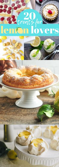 Homemade Lemon Lovers Recipes (Cakes, Cookies, Bars, Desserts) - be sure to add this to your dessert and sweet treats recipes board!