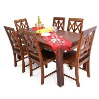 Darren 6 Seater Dining Table Set Rs 34999 Material Sheesham Wood Color/Finish  sc 1 st  Pinterest & Buy Zuari Dining Table Set 4 Seater Wenge Finish - Piru Online ...