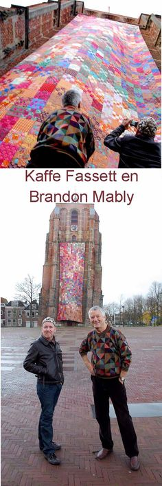 Oldenhoven quilt in Leeuwarden - attended a seminar of Kaffe Fasset at Wynberg Girls High in Cape Town - Llb's dear old school - Kaffe was absolutely amazing ★★★★★ Quilting Projects, Quilting Designs, Quilting Ideas, Yarn Bombing, Fabric Art, Belle Photo, Textile Art, Boutique, Quilt Blocks
