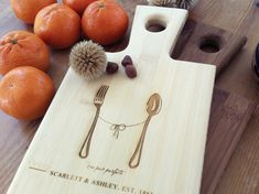 Personalized Cutting Board Custom Engraved Paddle by woodbemine Custom Engraving, Laser Engraving, Personalized Cutting Board, Forks And Spoons, Personalized Gifts, Handmade Gifts, Wood Gifts, Corporate Gifts, Groomsman Gifts