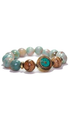 by Devoted  Round Turquoise Tibetan Bracelet