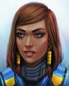 I did a painting of my Overwatch main, Pharah :D. #pharah #overwatch #overwatchart #digitalart #digitalpainting #justicerainsfromabove…