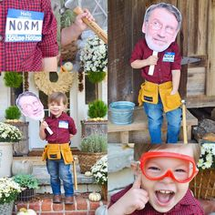 DIY Norm Abram Costume #ThisOldHouse #nailedit #THESEsafetyglasses