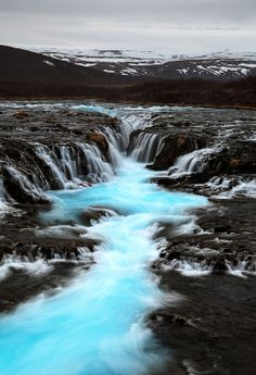 icy blue falls in, none other than, Iceland