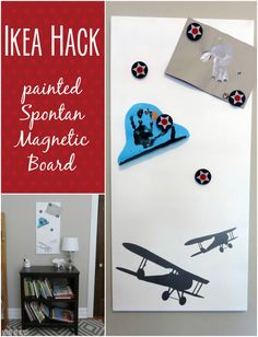 It's easy to customize the Spontan Magnetic Board from IKEA! Average But Inspired shares her hack and tips on how to paint the Spontan however you like!