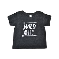Our Wild One design on the softest tri-blend black T-shirt.Composition:50% polyester25% cotton25% RayonPrinted with water based white ink. A heather print gives the design a vintage look while also keeping the shirt soft and breathable.