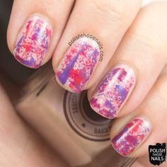 Polish Those Nails: 52 Week Challenge - Pale Pink + Tweed