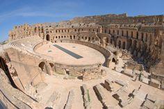 amphitheatre of el jem in tunisia -