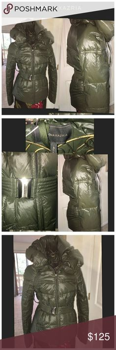 BCBGMAXAZARIA QUILTED PUFFER COAT, SIZE SMALL Ladies, you will adore this stunning puffer coat that is so flattering and will keep you warm while looking so chic. It has been very gently used, like new condition and is a size small.  Please ask questions. BCBGMaxAzria Jackets & Coats Puffers