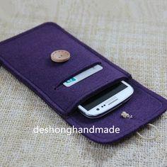 iphone 5/5 s/5c felt caseSleeve iPhone 5 Wallet di deshonghandmade