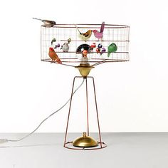 La Voliere Bird Cage Lamp by Mathieu Challieres