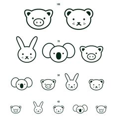 A cute minimal eye chart designed by FL4 Projects