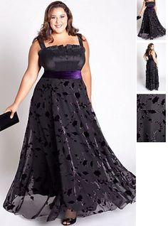 Abendkleid in L XL XXL XXXL große größen Schwarz ID1122