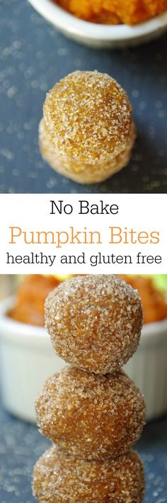 These no bake pumpkin balls are easy to make and delicious. Healthy no bake pumpkin balls are easy to make and totally guilt free. If you are looking for healthy pumpkin recipes, these are gluten free and loaded with only healthy ingredients! Healthy Sweets, Healthy Baking, Healthy Snacks, Healthy Recipes, Healthy Cookies, Healthy Drinks, Protein Cookies, Diet Snacks, Healthy Tips
