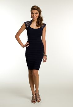 Short Metallic Lace Dress by Camille La Vie & Group USA