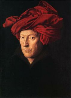 Jan van Eyck - A Man in a Turban (a stunning painting to see in person)